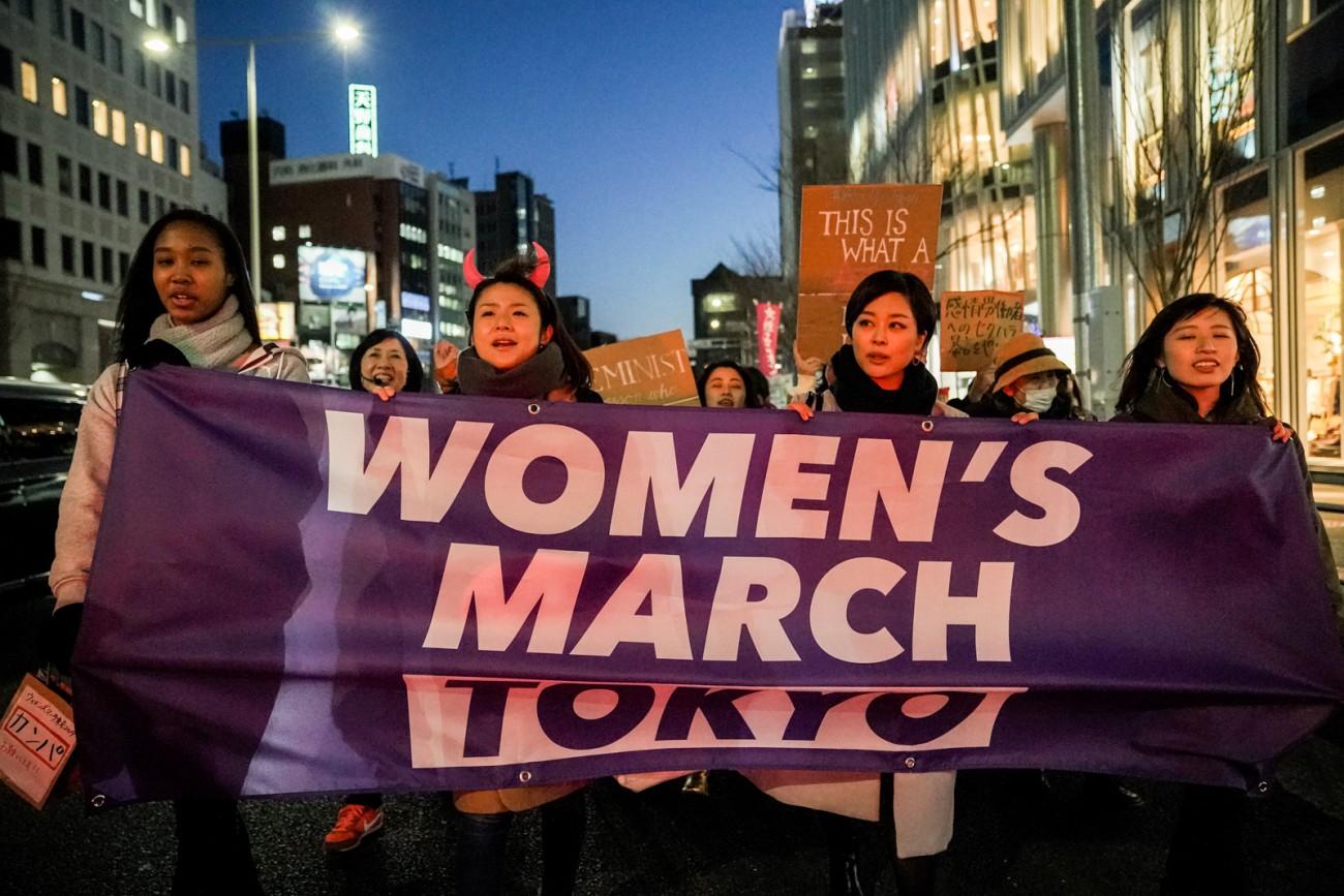 毎年、国際女性デーに開催している「ウィメンズマーチ東京」(撮影:Deby Sucha)